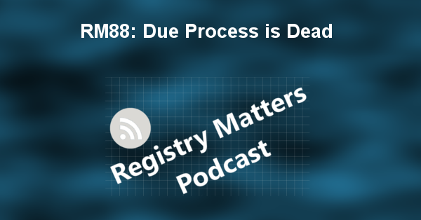 RM88: Due Process is Dead