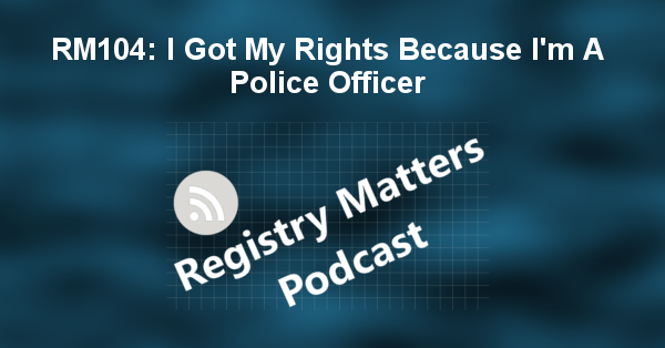 RM104: I Got My Rights Because I'm A Police Officer