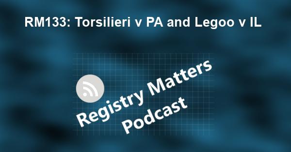 RM133: Torsilieri v PA and Legoo v IL