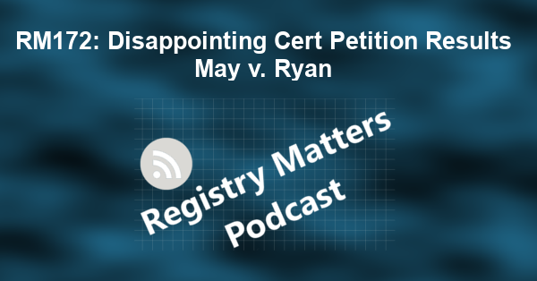 RM172: Disappointing Cert Petition Results May v. Ryan