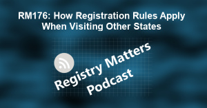 RM176: How Registration Rules Apply When Visiting Other States