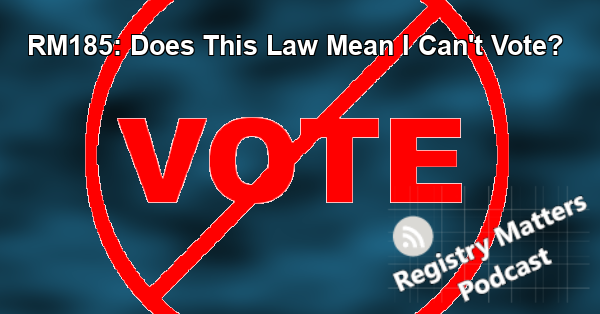 RM185: Does This Law Mean I Can't Vote?