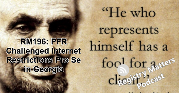RM196: PFR Challenged Internet Restrictions Pro Se in Georgia